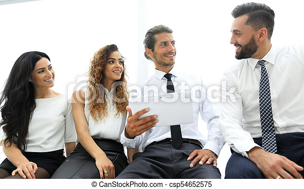 business colleagues with digital tablet. - csp54652575