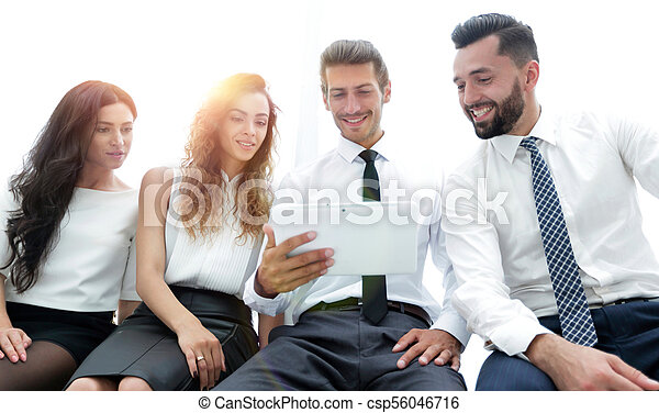 business colleagues with digital tablet. - csp56046716
