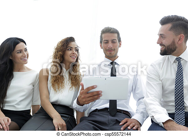business colleagues with digital tablet. - csp55572144