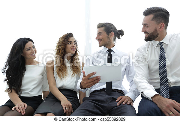 business colleagues with digital tablet. - csp55892829