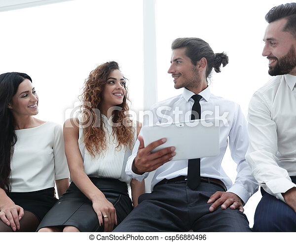 business colleagues with digital tablet. - csp56880496