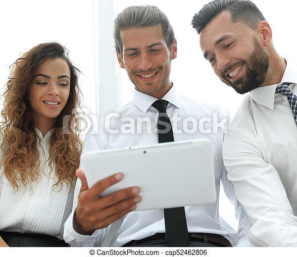 business colleagues with digital tablet. - csp52462806