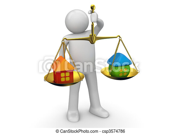 Business collection - Weighing real estate offers - csp3574786