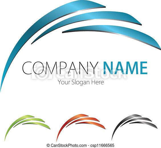 Compañía, diseño de logotipo - csp11666565