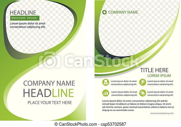 Business company profile book brochure flyer vector art vector ...