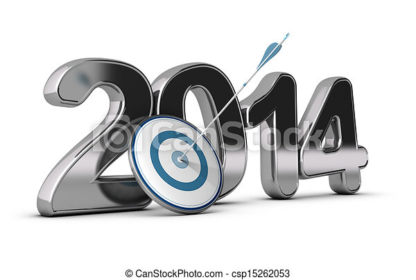 Business Concept - 2014 Objectives - csp15262053