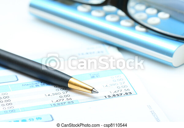 Business concept: accounting - csp8110544