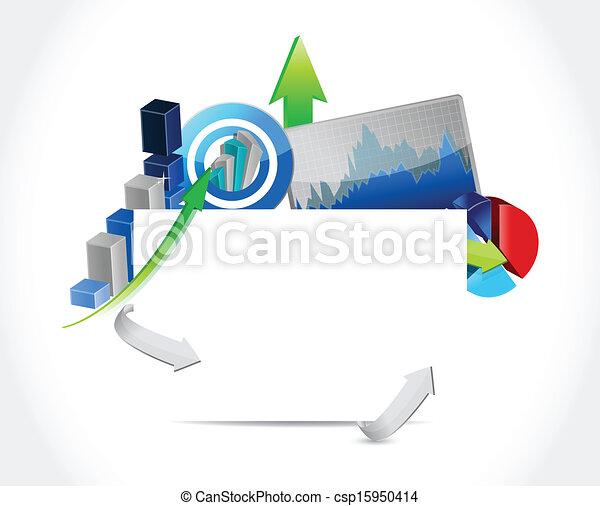 business concept blank sign illustration design - csp15950414