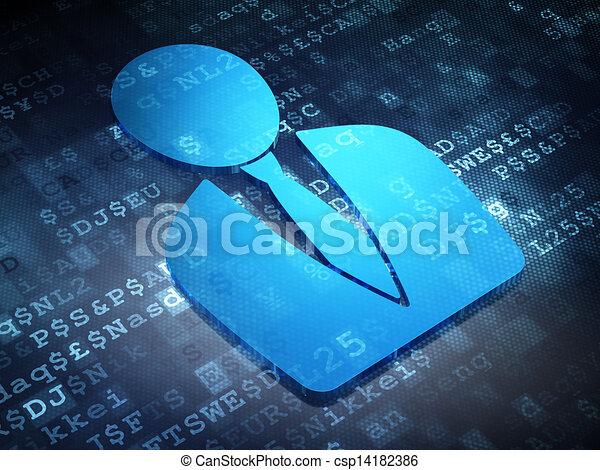 Business concept: Blue Business Man on digital background - csp14182386
