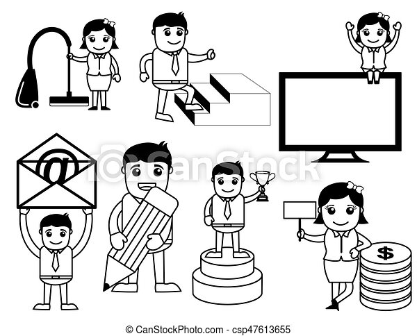 Business Concept Cartoons Vector - csp47613655