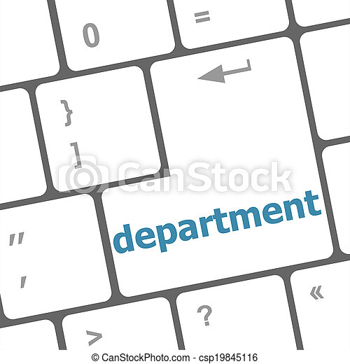 business concept: computer keyboard with word department - csp19845116