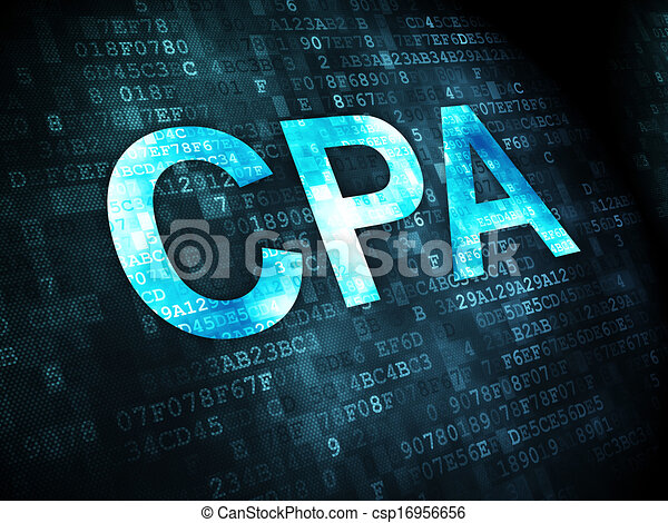 Business concept: CPA on digital background - csp16956656