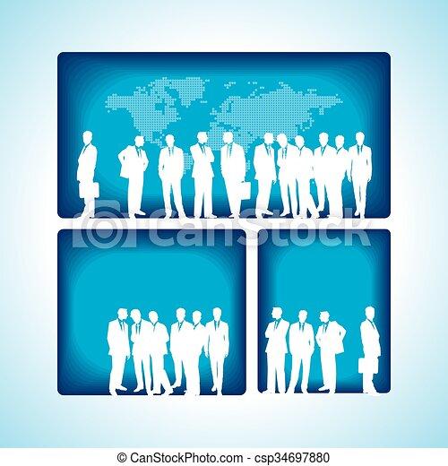 business concept design  - csp34697880
