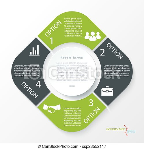 Business concept design with 4 segments infographic template can be business concept design with 4 segments infographic template csp23552117 accmission Images