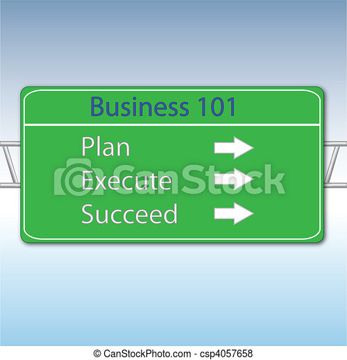 Business Concept Highway Sign - csp4057658