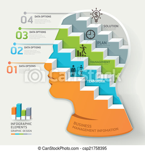 Business concept infographic. - csp21758395