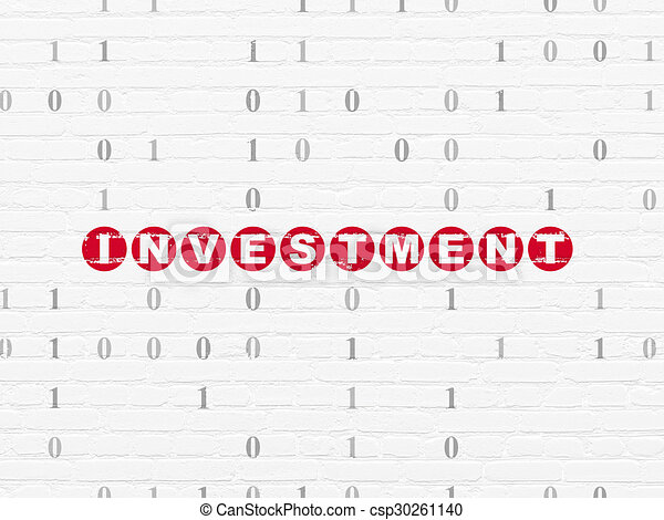 Business concept: Investment on wall background - csp30261140