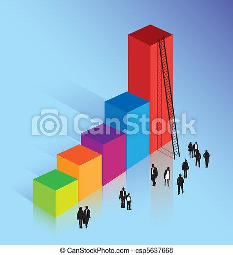 business concept of achieving success - csp5637668