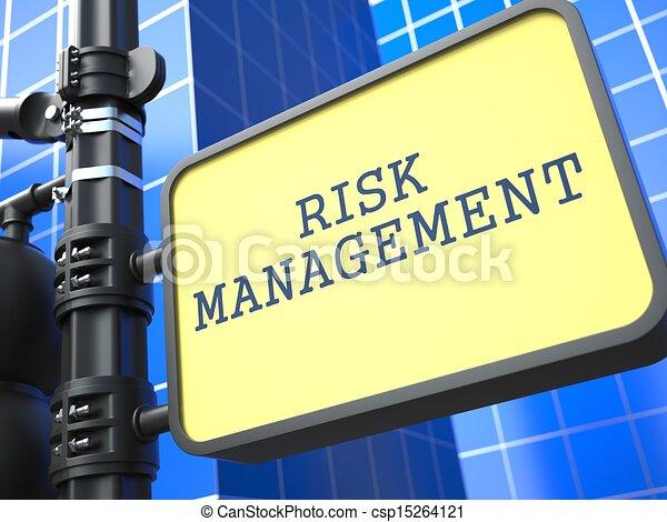 Business Concept. Risk Management Roadsign. - csp15264121