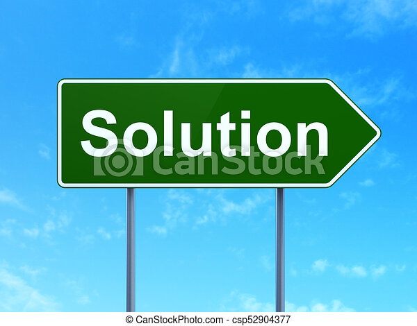 Business concept: Solution on road sign background - csp52904377