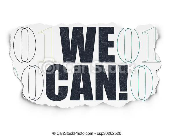 Business concept: We Can! on Torn Paper background - csp30262528