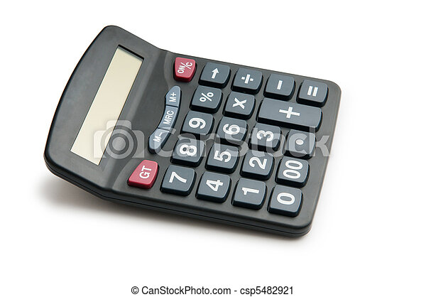 Business concept with accounting calculator  - csp5482921