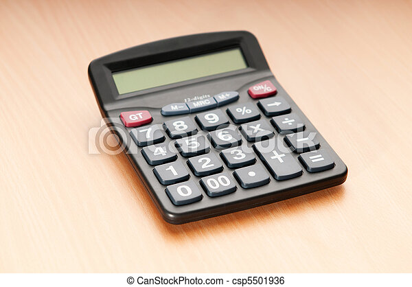 Business concept with accounting calculator  - csp5501936