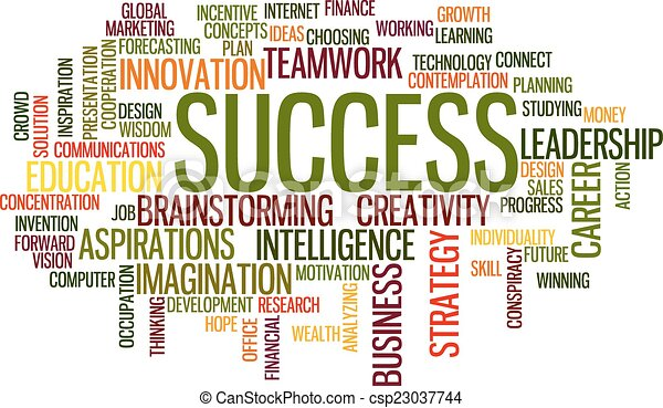 business concept word cloud - csp23037744