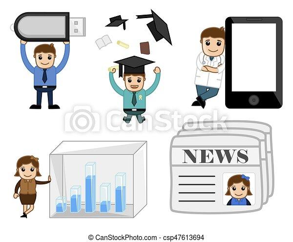 Business Conceptual Cartoons - csp47613694