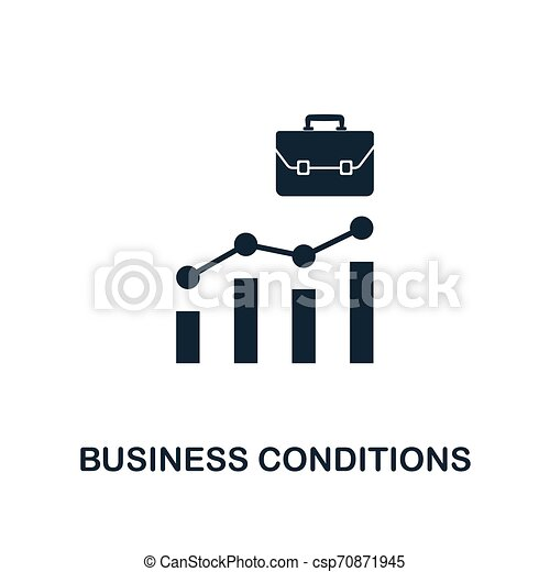 Business Conditions icon. Creative element design from business strategy icons collection. Pixel perfect Business Conditions icon for web design, apps, software, print usage - csp70871945