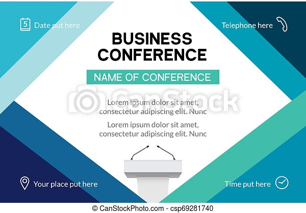 Business Conference Simple Template Invitation Geometric Magazine Conference Or Poster Business Meeting Design Banner