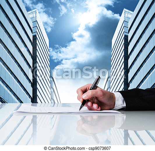 Business contract - csp9073607