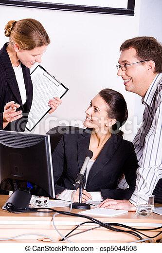 Business conversation - csp5044508