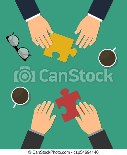 Business cooperation and partnership - csp54694146