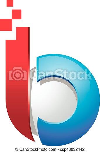 B Logo business corporate letter b 3d logo design vector. letter b logo for