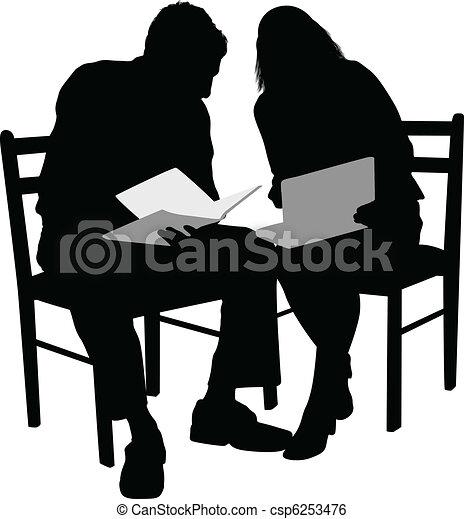 Business couple - csp6253476
