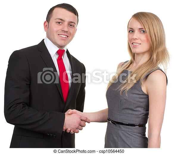 Business couple - csp10564450