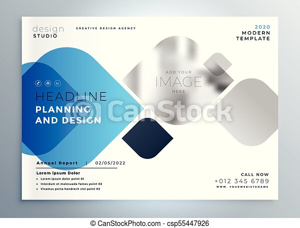 business cover page template design for your brand in creative style csp55447926