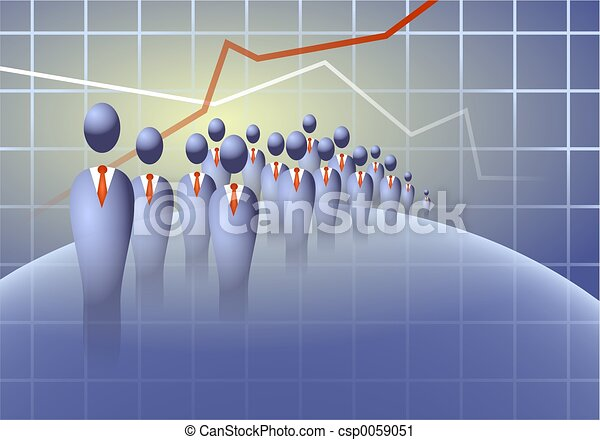 Business Crowd - csp0059051