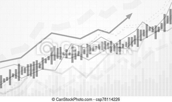 Business data analytics. Financial graph chart. Graph chart of stock market investment trading. Abstract analisys and statistic diagram. vector illustration - csp78114226