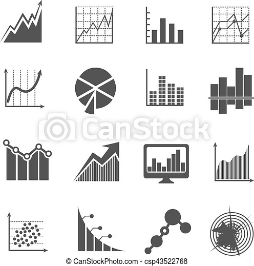 Business Data Analytics Icons Measurements And Financial Diagrams