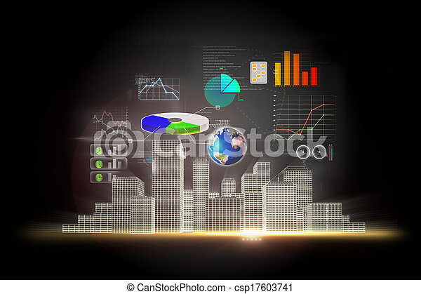 Business data background - csp17603741