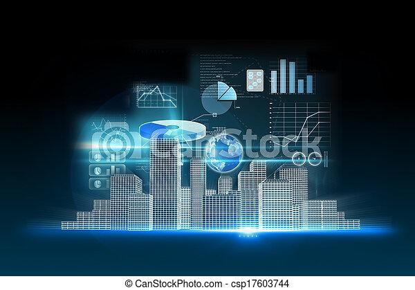 Business data background - csp17603744