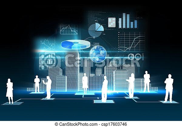 Business data background - csp17603746