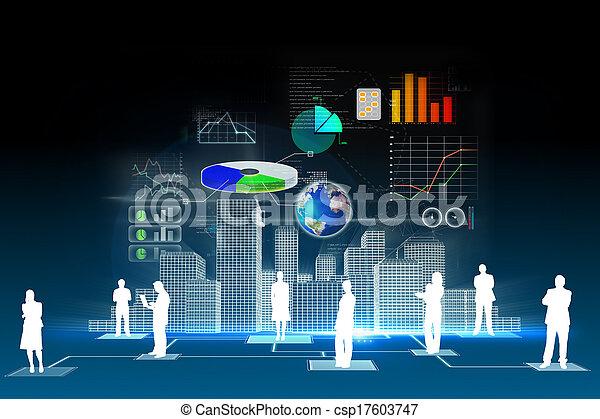 Business data background - csp17603747