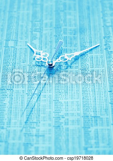 Business, data, clock - csp19718028