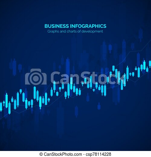 Business data statistic. Financial graph chart. Graph chart of stock market investment trading. Abstract analisys and statistic diagram. vector illustration - csp78114228