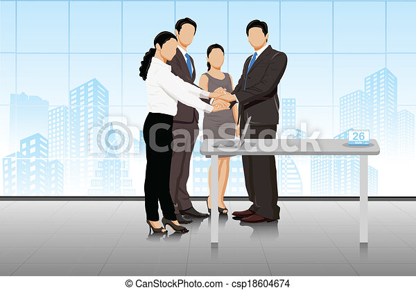 Business deal with businesspeople - csp18604674