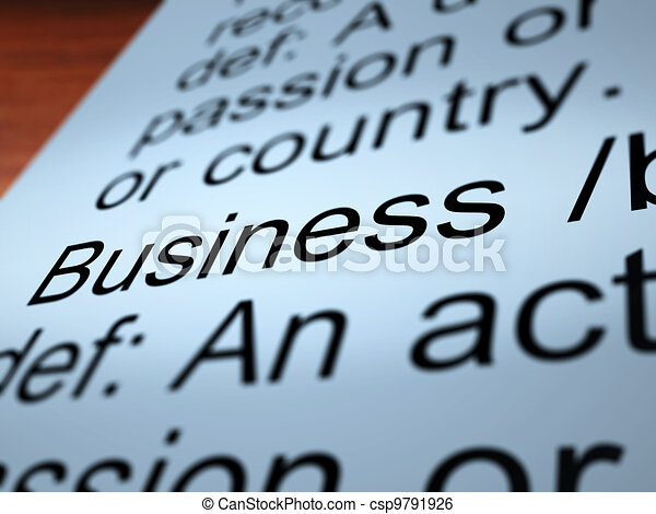 Business Definition Closeup Showing Commerce - csp9791926