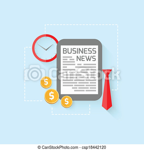 Business design in flat style - csp18442120